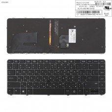 Клавиатура HP EliteBook 840 G3 RU (чёрная с серой рамкой, с подсветкой, с поинтстиком, Original)