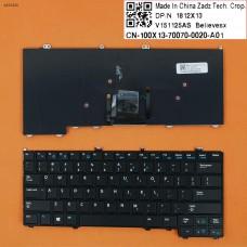 Клавиатура для Dell Latitude E7440 E7420 E7240, US, (черная, с подсветкой, с поинтстиком, Original)