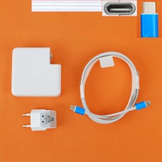 "Блок питания Apple MacBook Pro 15"" A1707 A1719 USB Type C 87W (20.2V*4.3A/ 9V*3A/ 5.2V*2.4A, с кабелем)"