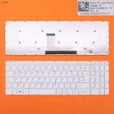 Клавиатура Toshiba Satellite L50-B S50-B L50D-B L50T-B L50DT-B L55(D)-B S55-B S55T-B S55D-B UK (белая, 342x112mm, версия 2, вертикальный Enter)