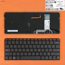 Клавиатура HP Spectre 13-v 13-v001xx 13-v011dx 13-v021nr series, US (Brown, с подсветкой)