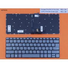 Клавиатура для Lenovo IdeaPad 320-14ISK 320S-14IKB 320S-14IKBR, US, (серая, с подсветкой, Original)