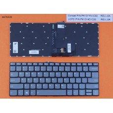 Клавиатура Lenovo IdeaPad 320-14ISK 320S-14IKB 320S-14IKBR US (серая, с подсветкой, Original)
