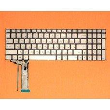 Клавиатура Asus N551 N551J N551JB N551JK N551JM N551JQ RU (silver, с подсветкой, Original)