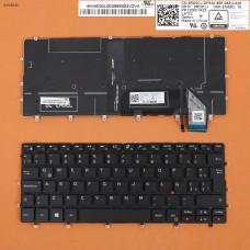 Клавиатура Dell XPS 13 9370 LA (черная, с подсветкой, Original)