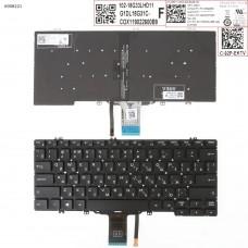 Клавиатура для Dell Latitude E5280 E5289 E7280 E7390, RU, (чёрная, с подсветкой, Original)