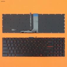 Клавиатура для MSI GT72 GS60 GS70 WS60 GE72 GV72 GE62, US, (красная подсветка, Original)