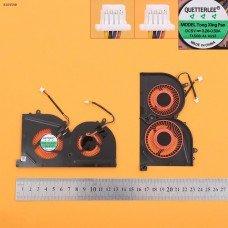 Вентилятор кулер для MSI GS63VR GS73VR, (Red Blades, красные лопасти, для GPU, OEM)