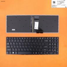 Клавиатура для Acer Aspire E5-722, E5-772, V3-574G, E5-573, E5-532G series, US, (черная, с подсветкой)