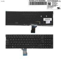 Клавиатура для Asus Q552 Q503 Q504 Q502 Q553 series, US (черная, с подсветкой, Original, Уценка - сломана кнопка с лифтом)