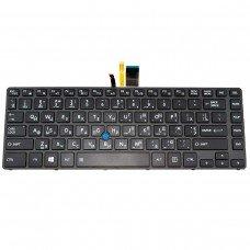 Клавиатура для Toshiba Tecra A40-C, A40-C1430 A40-C1440 A40-C-18R, RU/UA, (черная, с подсветкой, с поинтстиком, Original)