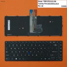 Клавиатура для Toshiba Tecra R40-C series, US, (черная, с подсветкой, с поинтстиком, Original)