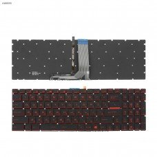 Клавиатура для MSI GT72 GS60 GS70 WS60 GE72 GV72 GE62, RU, (красная подсветка, Original)