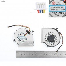 Вентилятор для MSI GE62VR GP62MVR, MS-16J9 MS-16JB, (PAAD06015SL, 4pin, для CPU, Original)
