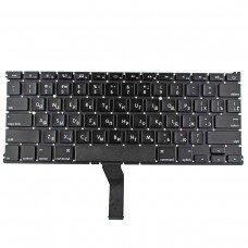 """Клавиатура для Apple Macbook Air 13"""" A1369 A1466, MC965 MC966 MC503 MC504 MD231 MD232, RU, Black, (горизонтальный Enter, 2011-2015)"""