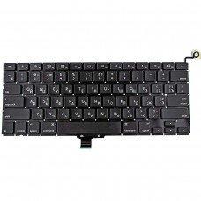 """Клавиатура для Apple Macbook Pro Unibody 13.3"""" A1278 MB467, RU/UA, Black, (горизонтальный Enter)"""
