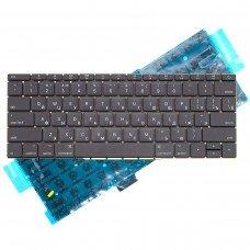 """Клавиатура для Apple MacBook Pro 13.3"""" A1708, RU, (черная, с подсветкой)"""
