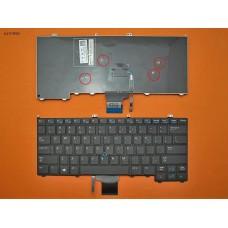 Клавиатура для Dell Latitude E7440 E7420 E7240, US, (черная, с поинтстиком, Original)