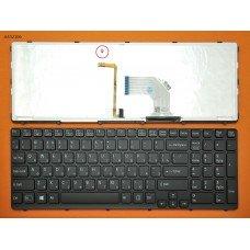 Клавиатура Sony Vaio SVE15 SVE17 RU (черная, с подсветкой)