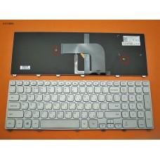 Клавиатура Dell Inspiron 17 7000 7737 series RU (Серебристая, с подсветкой, Original)