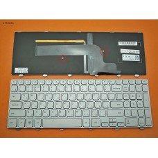 Клавиатура Dell Inspiron 15-7000 Series 7537 RU (серебристая, с подсветкой, Original)